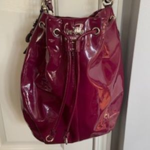 Coach Magenta pink Patent Leather Bucket Bag